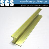 Buy cheap Shining Copper Extruded Profiles Brass Extruding Window Head Sections from wholesalers