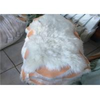 Buy cheap 100% Polyester Plain White Faux Sheepskin Rug Living Room 100*100 CM OEM from wholesalers
