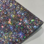 Buy cheap 50m/Roll Fireproof 3D Chunky Glitter Leather Fabric from wholesalers