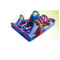 Buy cheap Waterproof Colorful 60m x 7m x 10m Inflatable Obstacle Course rentals For Kids And Adults from wholesalers