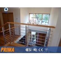 China Adjustable cutomized removable stainless steel stair railings on sale