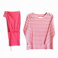 Buy cheap Women's Pajamas, Made of 100% Cotton, with Long Sleeves from wholesalers