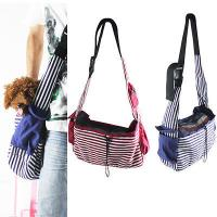 Buy cheap Striped Canvas Sling Bag Pet Carrier For Dog/Cat Travel Bag Red,Blue from wholesalers