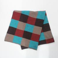 Buy cheap 100% acrylic knitting scarf in checked pattern from wholesalers