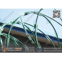 Buy cheap PVC coated Concertina Cross Razor Barbed Wire Fence | Anping China Supplier from wholesalers