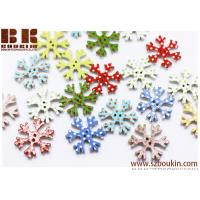 Buy cheap Christmas Snowflakes Wooden Button Polka Dot  Christmas Holiday Decoration from wholesalers