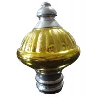 Buy cheap Golden Engraving 24mm / 26mm Curtain Rod Finals With Aluminium Rod from wholesalers