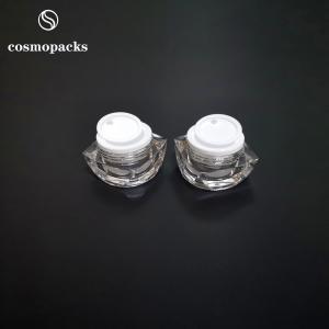 Buy cheap 5g 10g Scratch Resistant Cosmetic Cream Jars 53mm Diameter Custom Logo product
