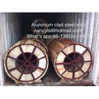 China High Conductivity Aluminum Clad Steel Wire For Electric Transmission Line on sale