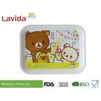 Buy cheap Shatter Proof Square Shape Melamine Food Tray 3-PC Set Sweet Cute Cartoon Printing from wholesalers