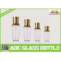 Buy cheap Royal Design Series Empty Glass Cream Bottle With Pump And Golden Cap from wholesalers