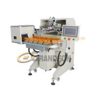 Buy cheap automatic 16 stations conveyor cosmetic bottles silk screen printing machine from wholesalers