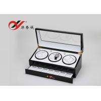 Quality Modern Style 3 Watch Packaging Box Luxury Lacquer Wood Material With Drawer for sale