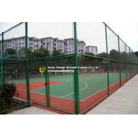 Buy cheap Sports Field Wire Mesh Fence Stainless Steel Green Color Gavlanized Finish from wholesalers