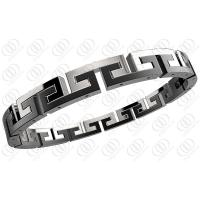 Buy cheap Black White Surgical Hinged Stainless Steel Bracelets For Men / Women from wholesalers