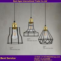 Buy cheap Geometric Cage Black Iron Ceiling Pendant Lights Wall mounted Lanterns Industrial Lamps from wholesalers
