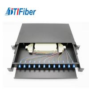 Buy cheap Light Structure Fiber Optic Connection Box , Fiber Optic Patch Box 12 Cores 1U product