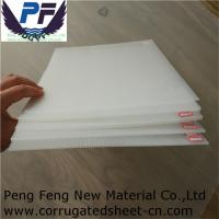 Buy cheap 2-12mm  4X8 white/blue/green/yellow color factory pricepolypropylene coroplast sheets for packing and printing industry from wholesalers