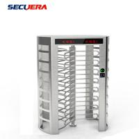 Buy cheap Full Height Security Electronic Fingerprint Reader Single Channel Turnstile Barrier Gate from wholesalers