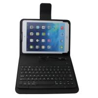 Buy cheap Black Wired Ultrathin Leather iPad Case with keyboard , 8-pin connect product