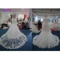 Buy cheap Fashion Princess Mermaid Wedding Dresses / Women Maxi Tulle Mermaid Bridal Gowns from wholesalers