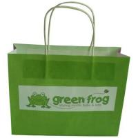 Buy cheap Cute Paper Carrier Bags Biodegradable Green with Vest Handle from wholesalers