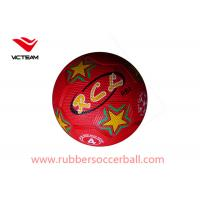 Buy cheap Teenager Red Rubber Soccer Ball Size 4 Eco friendly youth soccer balls from wholesalers