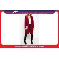 Buy cheap Rosy Autumn Winter Lady Long Trench Jacket , Business Style Cashmere Overcoat from wholesalers