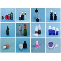 Buy cheap 20ml Empty Blue Glass Essential Oil Bottle DIN18 With Orifice Reducer from wholesalers