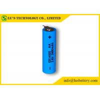 Buy cheap ER14505 Size AA 3.6 V 2.4Ah Lithium Thionyl Chloride AA Battery With Tabs from wholesalers