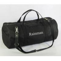 Buy cheap Black Canvas Gym Bag for traveling in large size, OEM GYM bag making from wholesalers