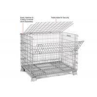 Buy cheap Multi Function Mesh Storage Cage Metal Cage Bins Strong Reinforced Design from wholesalers