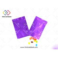 Buy cheap Mylar Ziplock Aluminum Foil Bags CMYK Printing With Customized Thickness from wholesalers