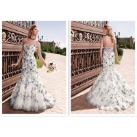 Buy cheap Sweetheart lace wedding dresses pattern trumpet bridal wedding gown backless wedding dress mermaid with train from wholesalers