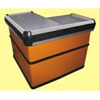 Buy cheap Steel Orange Express Checkout Counter / Polished Surface Store Cashier Desk from wholesalers