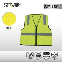 Buy cheap 100% polyester mesh and 5cm reflective tape traffic warning and road safety vest ANSI/ISEA 107-2010 product