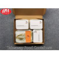 Buy cheap Recyclable Aluminium Foil Takeaway Food Containers Safe Material 4 Compartments from wholesalers
