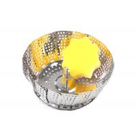 Buy cheap Collapsible Stainless Steel Steamer Basket For Pressure Cooker Vegetable Food Cooking from wholesalers