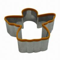 Buy cheap Stainless Steel with Yellow Silicone Rime Angel Cookie Cutter Set, OEM/FDA and LFGB from wholesalers