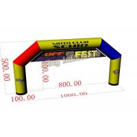 Buy cheap 10m*5m Mix Color Large PVC Custom Inflatable Arch / Inflatable Advertising product