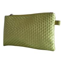 Buy cheap Gold Woven Veins Leatheroid Wallet Bag, Fabric Carrier Bags With Leather Loop from wholesalers