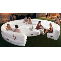 Buy cheap White large Circular PVC Modern Inflatable Furniture , Inflatable Sofa Bed from wholesalers