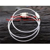 Buy cheap Stainless-Steel-Rope-Keychain-Ring--Secure-Key-Ring from wholesalers