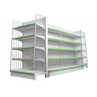 Buy cheap Metal Supermarket Gondola Shelving , Heavy Duty Commercial Display Racks from wholesalers