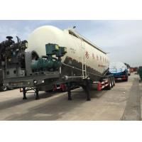Buy cheap 48.5cbm Mn Steel  Bulk Cement Tank Semi Trailer Truck ISO / 3C / BV / IFA / SGS from wholesalers