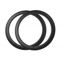 Buy cheap 60mm Depth Lightweight Bicycle Rims External / Internal Nipples Spoke Type from wholesalers