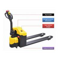 Buy cheap Horizontal Driving Wheel Motorized Pallet Jack , Balanced Semi Electric Pallet Jack from wholesalers