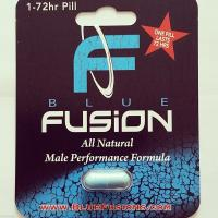 Quality Blue Fusion Bliser Card Packaging for Male Tablets , Aqueous Coating for sale