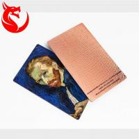 Buy cheap Top grade different background design rose gold steel metal card from wholesalers