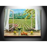 Buy cheap Fashion Realistic Window Scenery Hand made canvas Oil Painting mcfj1004 from wholesalers